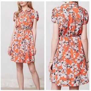 Maeve / Anthropologie Silk Floral Dress, Pockets